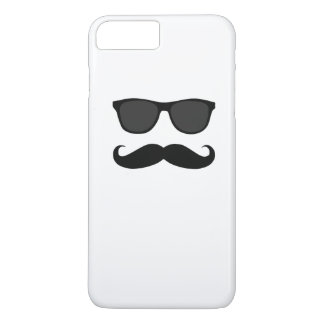 Black Mustache and Sunglasses Humor Gift iPhone 7 Plus Case