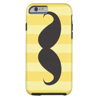 Black mustache and yellow stripes iPhone 6 case Tough iPhone 6 Case