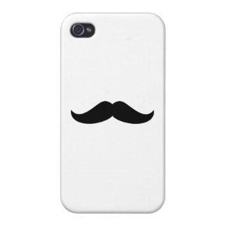 Black Mustache iPhone 4 Cases