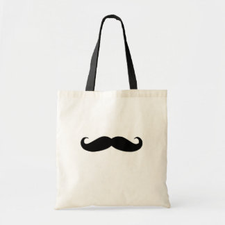 Black Mustache or Black Moustache for Fun Gifts Budget Tote Bag