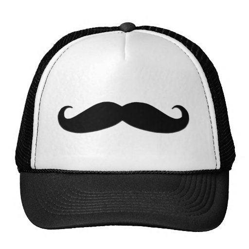 Black Mustache or Black Moustache for Fun Gifts Trucker Hat