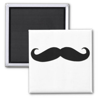 Black Mustache or Black Moustache for Fun Gifts Square Magnet