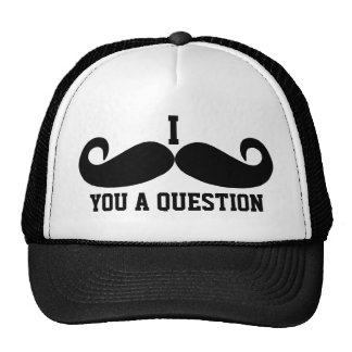 Black Mustache or Black Moustache for Fun Gifts Tr Cap