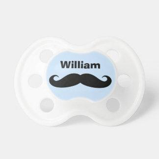Black mustache pacifier soother binkie dummy