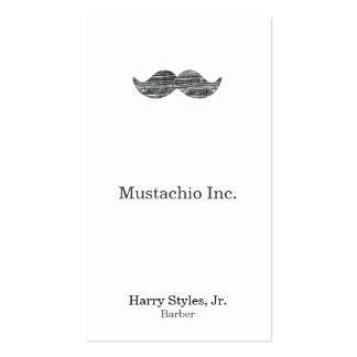 Black Mustache Pack Of Standard Business Cards