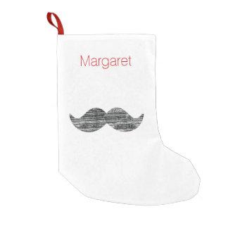 Black Mustache Small Christmas Stocking