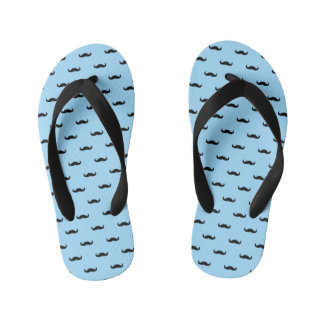 Black Mustaches Kid's Thongs