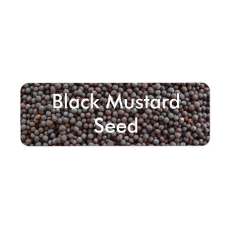 Black Mustard Seed Return Address Label