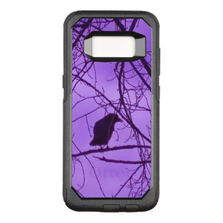 Black Mysterious Lone Crow Black Trees Purple sky OtterBox Commuter Samsung Galaxy S8 Case