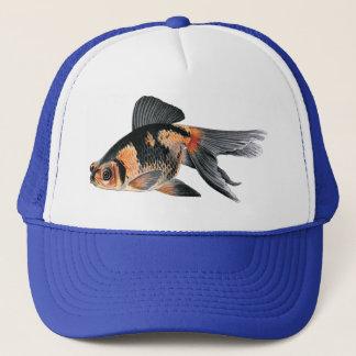 Black n Orange Goldfish Trucker Hat