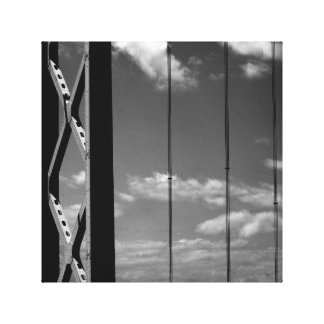 Black 'n' White Bridge Canvas Print