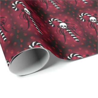 Black n White Candy Cane Wrapping Paper