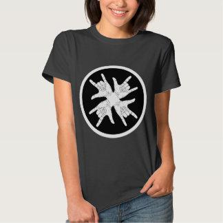 Black n white crazy T-shirt. Tees