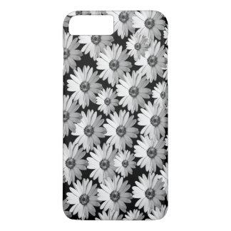 Black n White Daisies iPhone 7 Plus Case