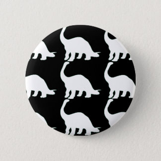Black n White Dinos 6 Cm Round Badge