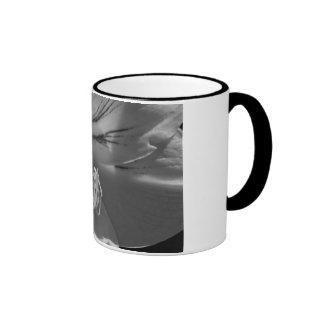 Black n White Hibiscus Coffee Mug