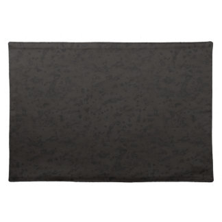Black Natural Cork Bark Look Wood Grain Placemat