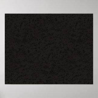 Black Natural Cork Bark Look Wood Grain Poster