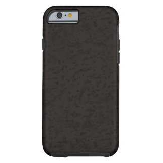 Black Natural Cork Bark Look Wood Grain Tough iPhone 6 Case