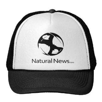 Black Natural News Trucker Hat