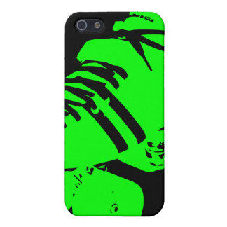 Black Neon Green Roller Derby Skate iPhone Case Cover For iPhone 5/5S