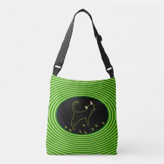 Black Neon Kitty Crossbody Bag