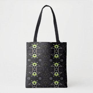 Black Neon Lemon Lime Gender Neutral Pattern Tote Bag