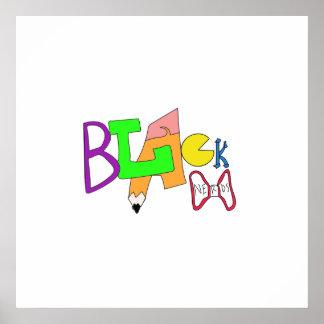 Black Nerds Original Logo Poster