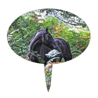 Black New Forest Pony & Forest U.K. Cake Picks