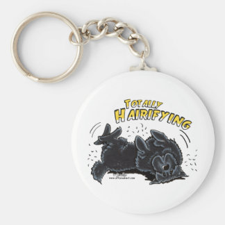 Black Newfie Totally Hairifying Key Ring