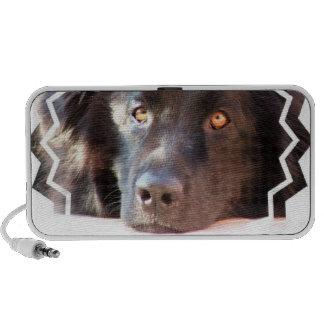 Black Newfoundland Dog Portable Speakers