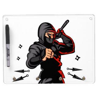black ninja cartoon. dry erase boards