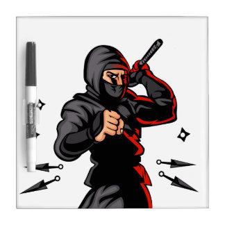 black ninja cartoon. Dry-Erase whiteboard