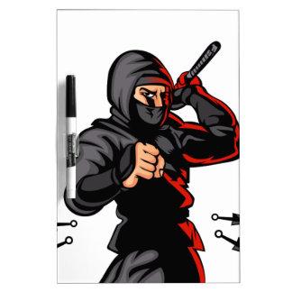 black ninja cartoon. Dry-Erase whiteboards