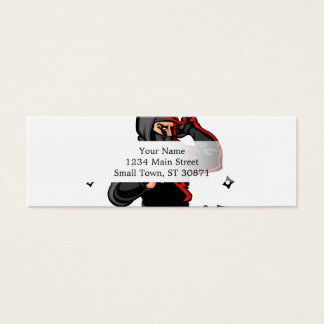 black ninja cartoon. mini business card