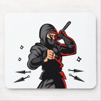black ninja cartoon. mouse pad