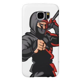 black ninja cartoon. samsung galaxy s6 cases