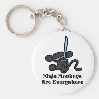 Black Ninja Kick Key Ring