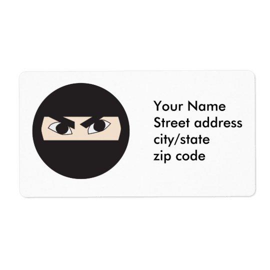Black Ninja Shipping Label