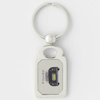 Black Nissan Figaro Custom Oblong Key Ring