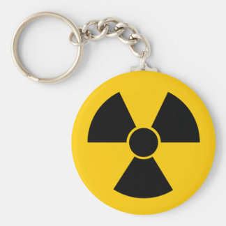 Black Nuke Basic Round Button Key Ring
