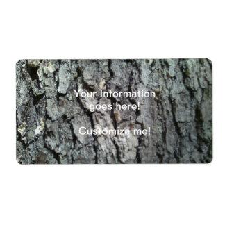 Black Oak Shipping Label
