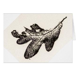 """""""Black Oak Leaf """" Country Greeting Card"""