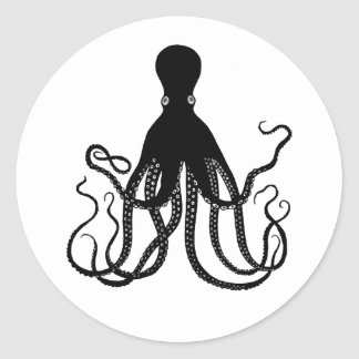 Black Octopus Sticker