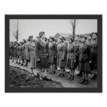Black Officers Inspecting Troops WWII England Print