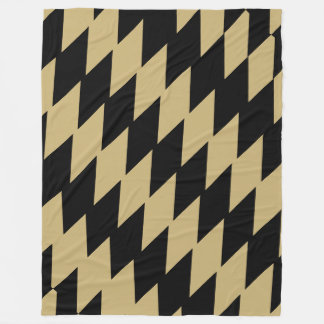 Black & Old Gold Jagged Pattern Fleece