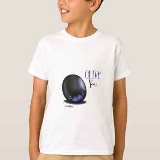 Black Olive you - I love you t-shirt