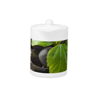 Black olives in glass cups with oil
