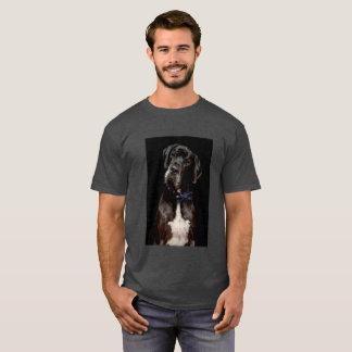 Black on Black Great Dane T-Shirt