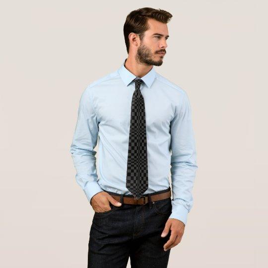 Black on Black Op Art Tie